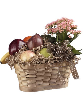 Fruit & Kalanchoe Basket