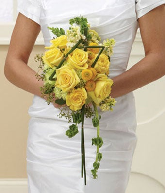 Wedding flowers wedding bouquets and centerpieces bridal bouquet of yellow roses and carnations mightylinksfo