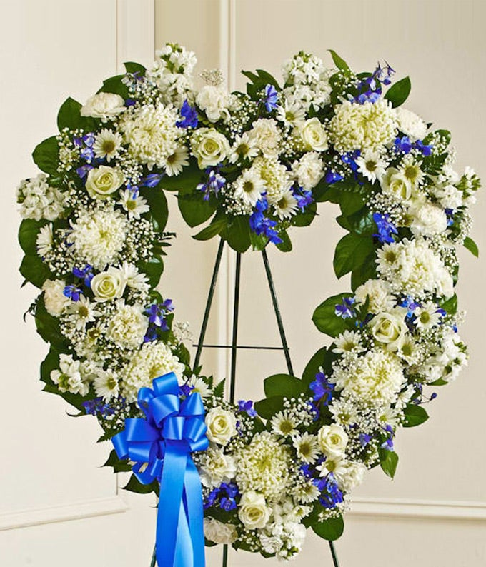 Blue Amp White Standing Open Heart At From You Flowers