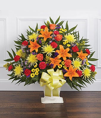 Multicolor Bright Sympathy Floor Basket