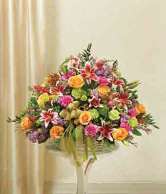 Pastel Flowers Sympathy Arrangement