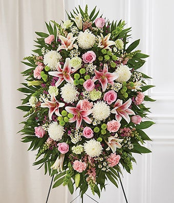 Multicolor Pastel Sympathy Standing Spray