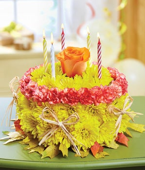 1800Flowers Fall Birthday Flower Cake at From You Flowers