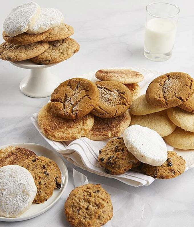 Variety of cookies in a basket