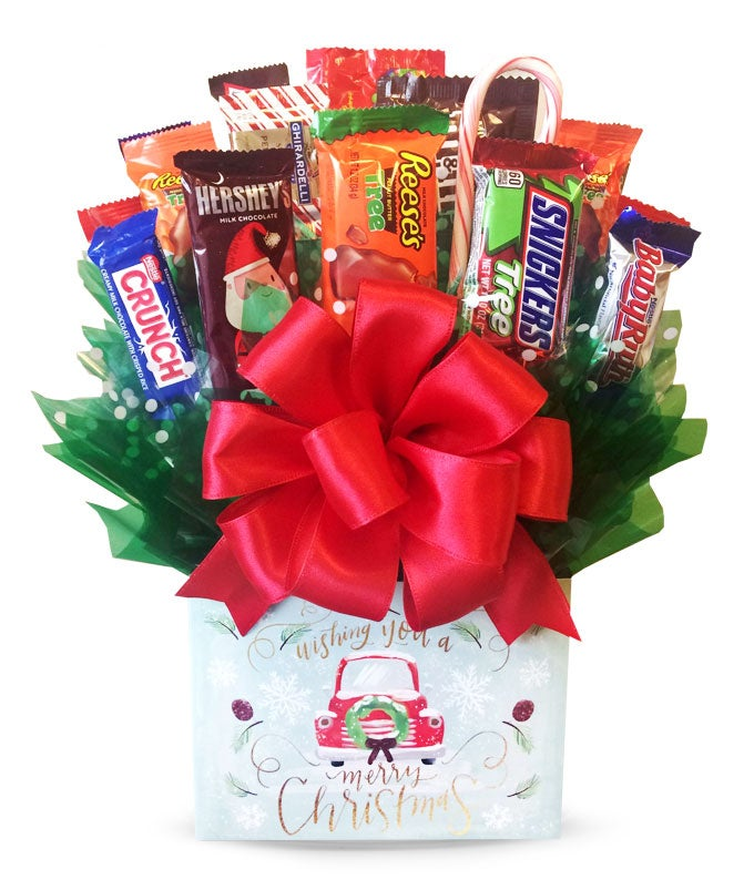 Sweet Christmas Candy Bouquet