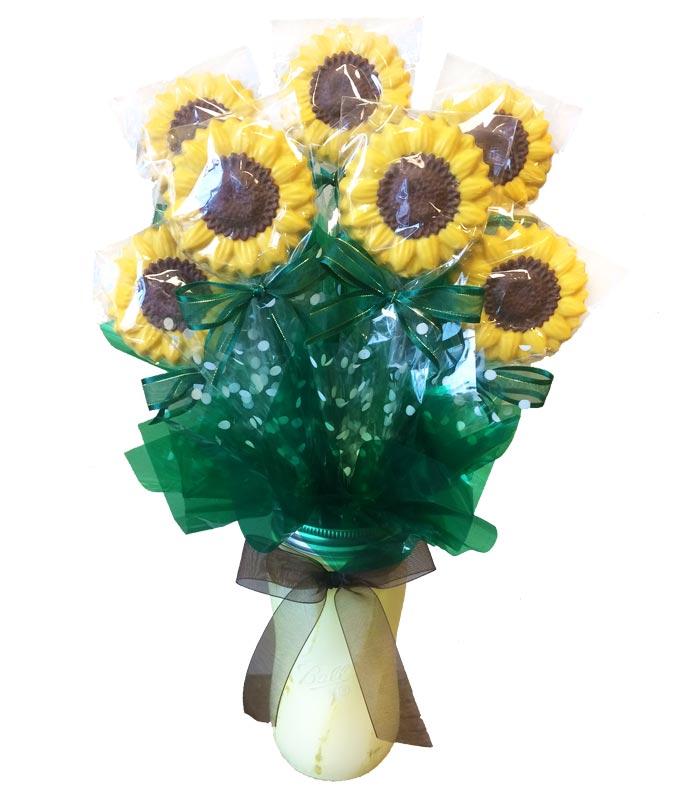 Sassy Sunflowers Chocolate Bouquet
