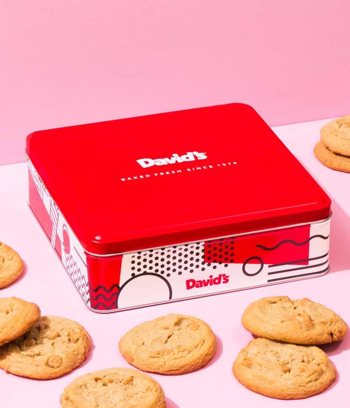 Peanut Butter Cookies Tin - 1lb