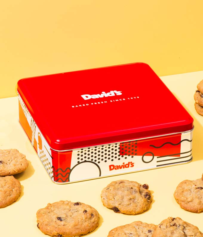 Oatmeal Raisin Cookies Tin - 1lb
