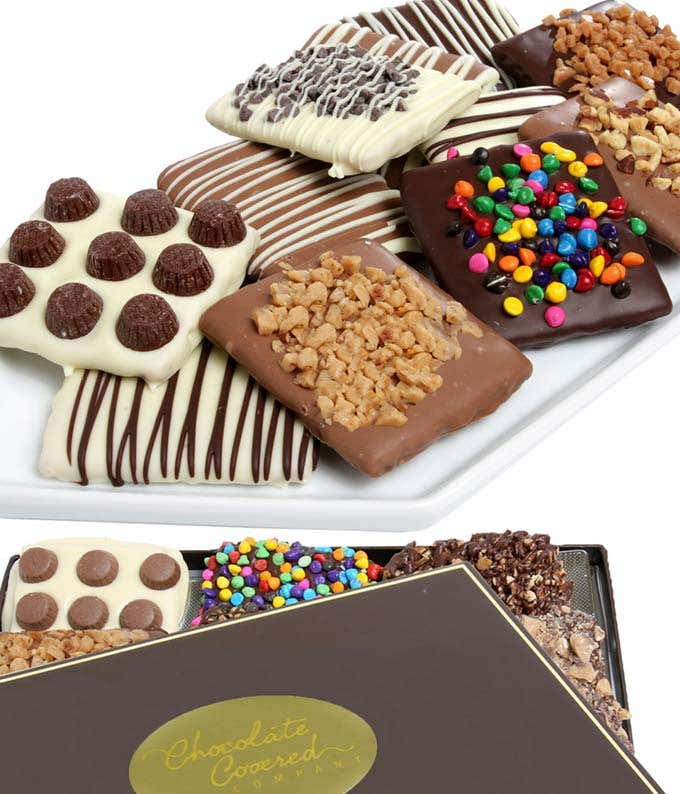 Candy Chocolate Dipped Graham Crackers
