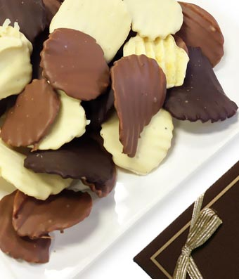 Chocolate Covered Potato Chips - 12 Pieces