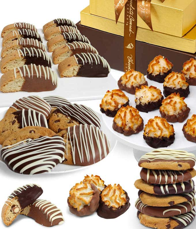 Chocolate Covered Cookie Basket