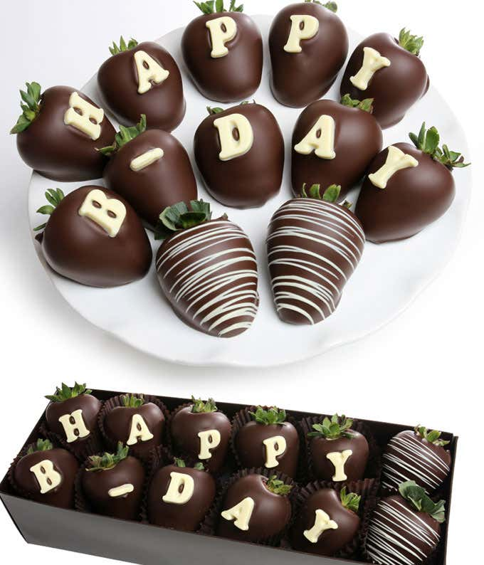 BIRTHDAY Chocolate Covered Strawberry BerryGram