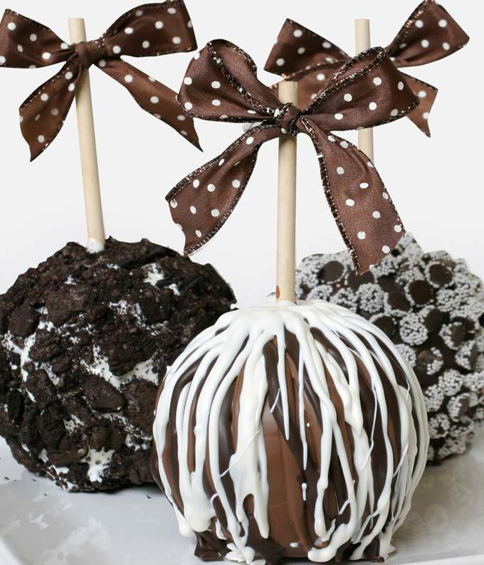 Multi Chocolate Caramel Apples - 3 Pieces