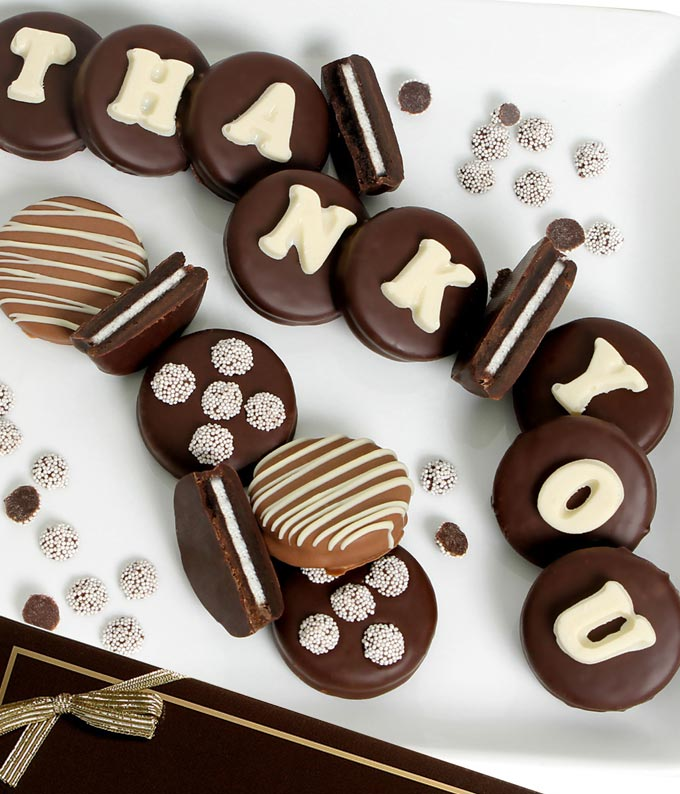 THANK YOU Belgian Chocolate Covered OREO® Cookies - 14 Pieces