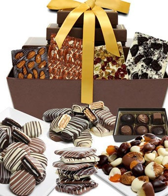 Premium Chocolate Snacks Gift Basket