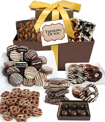 THINKING OF YOU Chocolate Gift Basket