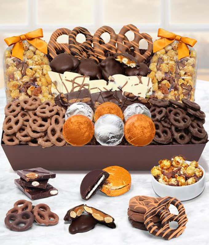 Fall Chocolate Covered Goodies Tray