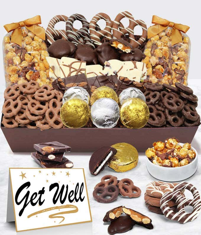Get Well - Belgian Chocolate Covered Snack Tray