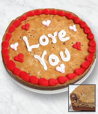 Love You Cookie Cake