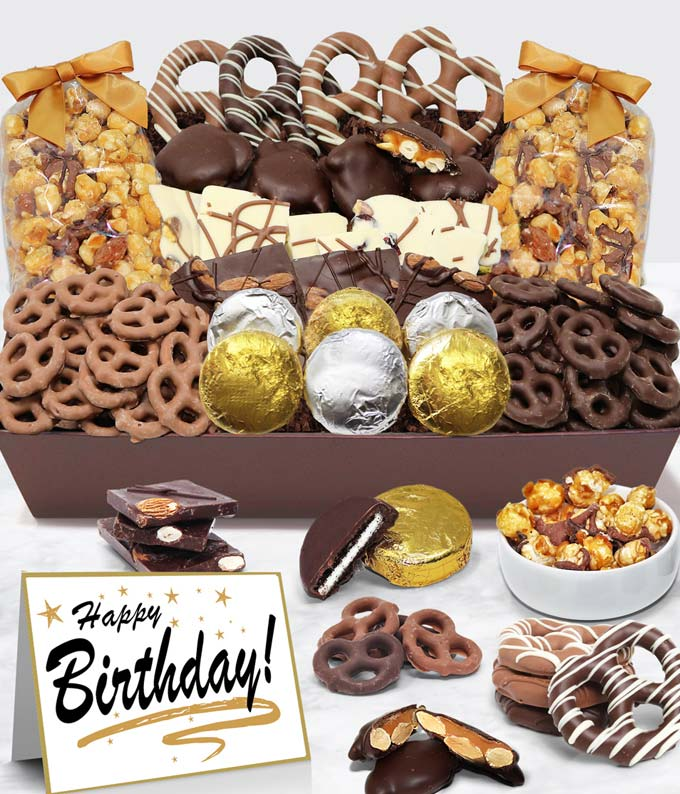 Happy Birthday - Belgian Chocolate Covered Snack Tray