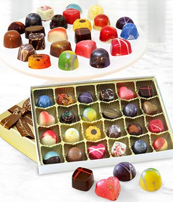 24 chocolate truffle variety in a box