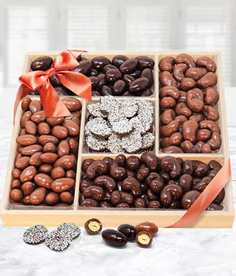 Superior Belgian Chocolate Covered Nut Tray