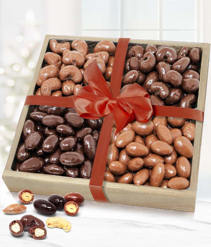 Premium Belgian Chocolate Covered Almond and Cashew Tray