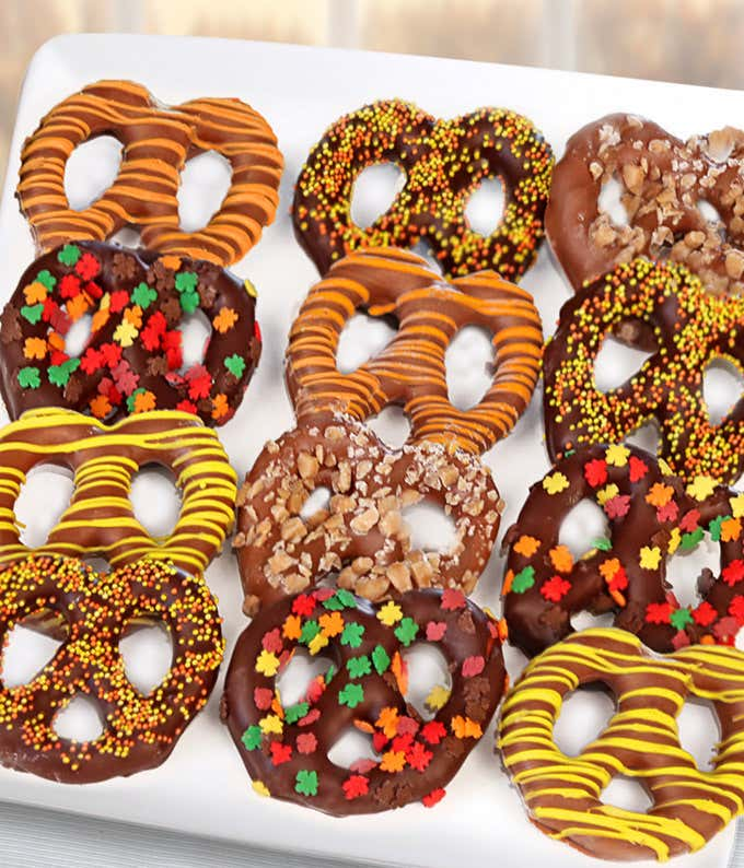 Fall Chocolate Covered Pretzels