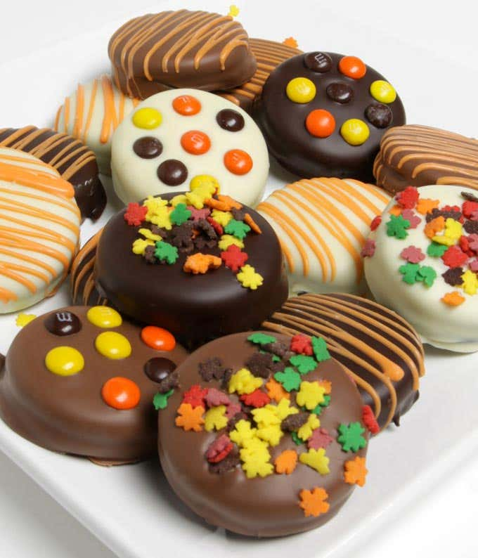 Fall Chocolate Covered Oreos
