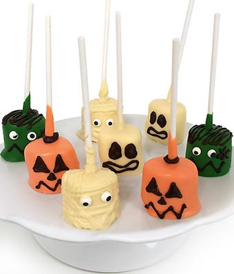 Spooky Halloween Chocolate Covered Marshmallow Pops - 8 Pieces