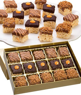 Fall Belgian Chocolate Crispy Bites - 15 Pieces