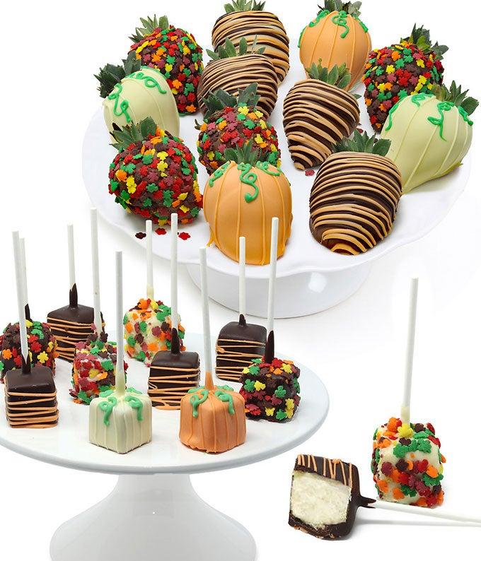 Fall Belgian Chocolate Covered Strawberries & Mini Cakepops