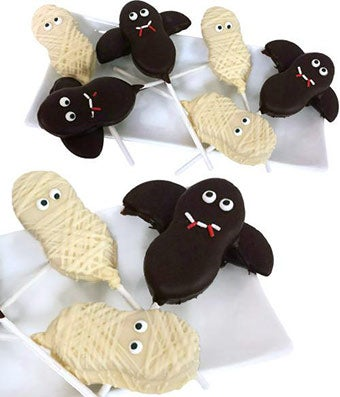 6 Nutter Butter® Bats & Mummies Belgian Chocolate Halloween Cookie Pops