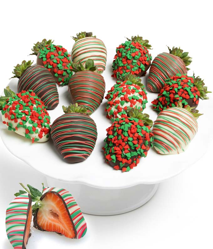 Holiday Belgian Chocolate Covered Strawberries