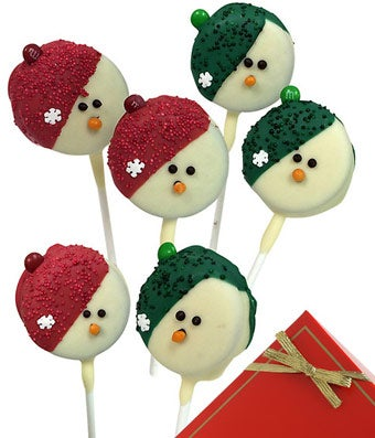 Snowman Chocolate Covered Oreo Pops - 6 Pieces