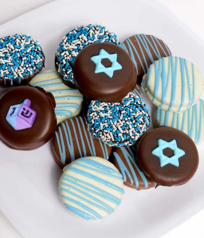 Hanukkah Belgian Chocolate Covered Oreo Cookies