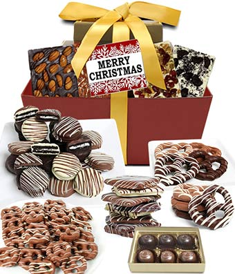 Merry Christmas Chocolate Indulgence Gift Tower