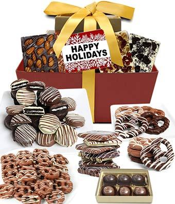 Happy Holidays Chocolate Indulgence Gift