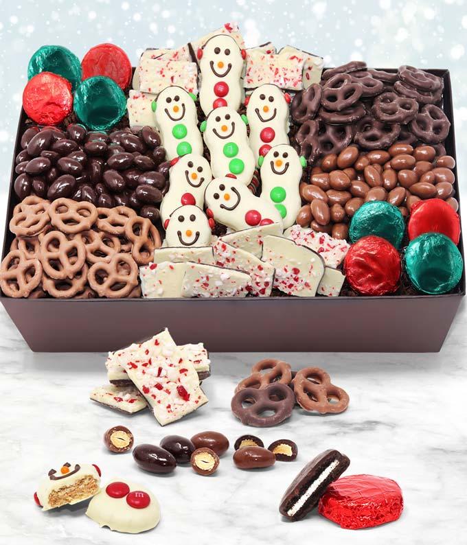 Snowman Chocolate Gift basket