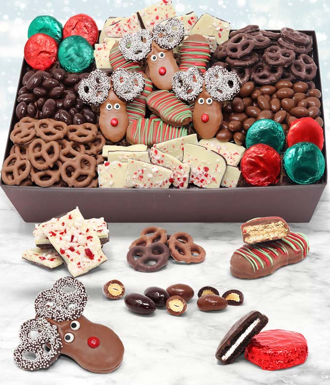 Christmas Delectable Belgian Chocolate Gift Tray