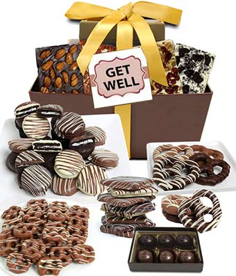 Get Well Chocolate Gift Basket