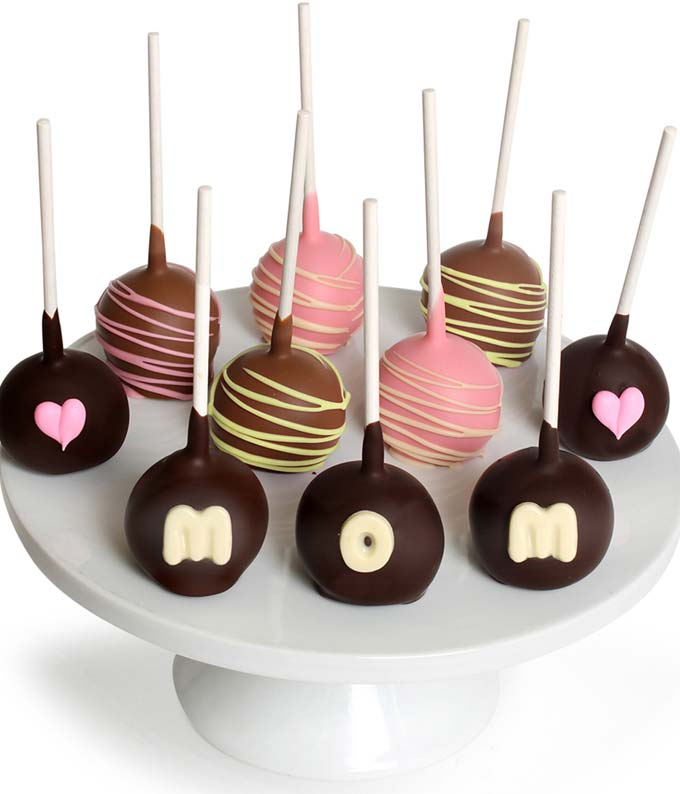 Mother's Day Chocolate Covered Cake Pops