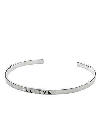 Believe Silver Message Bracelet