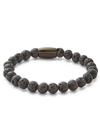 Men's Lava Rock Bead Bracelet