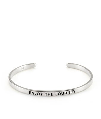 Embrace The Day Silver Message Bracelet