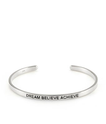 Positive Affirmation Silver Message Bracelet