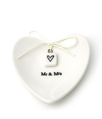 Heart Mr. & Mrs. Ring Dish