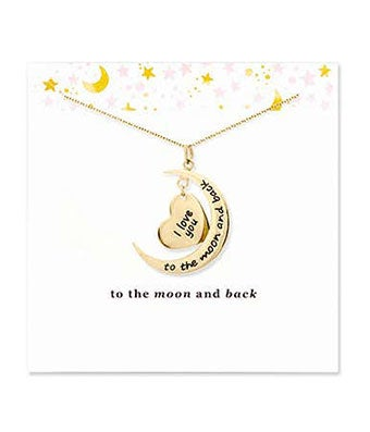 To The Moon and Back Gold Necklace