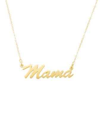 Mama Script Necklace