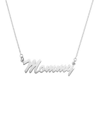 Mommy Script Necklace